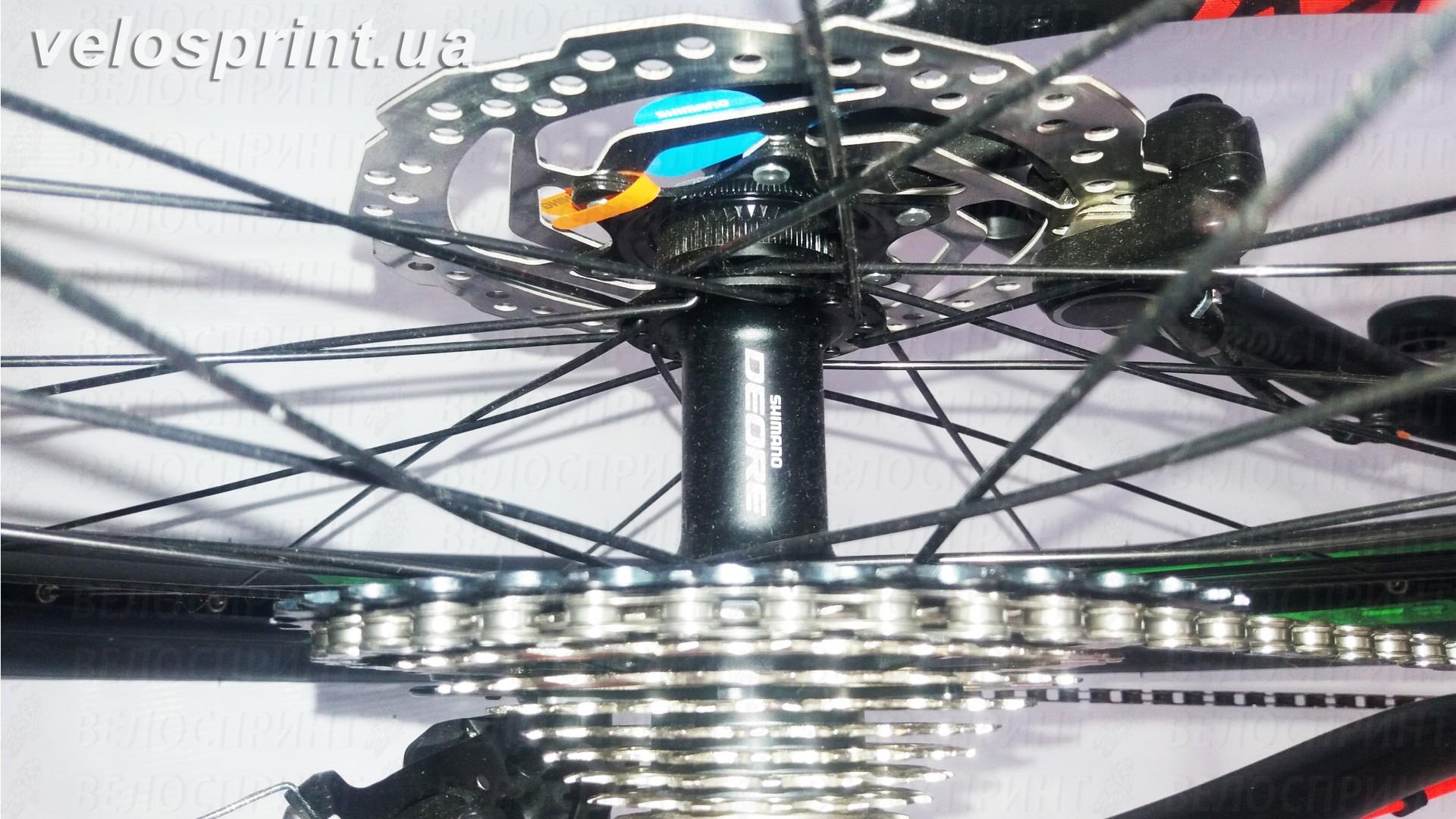 Велосипед GHOST Kato 7 AL 29 nightblack/riotgreen/neonred задняя втулка год 2017
