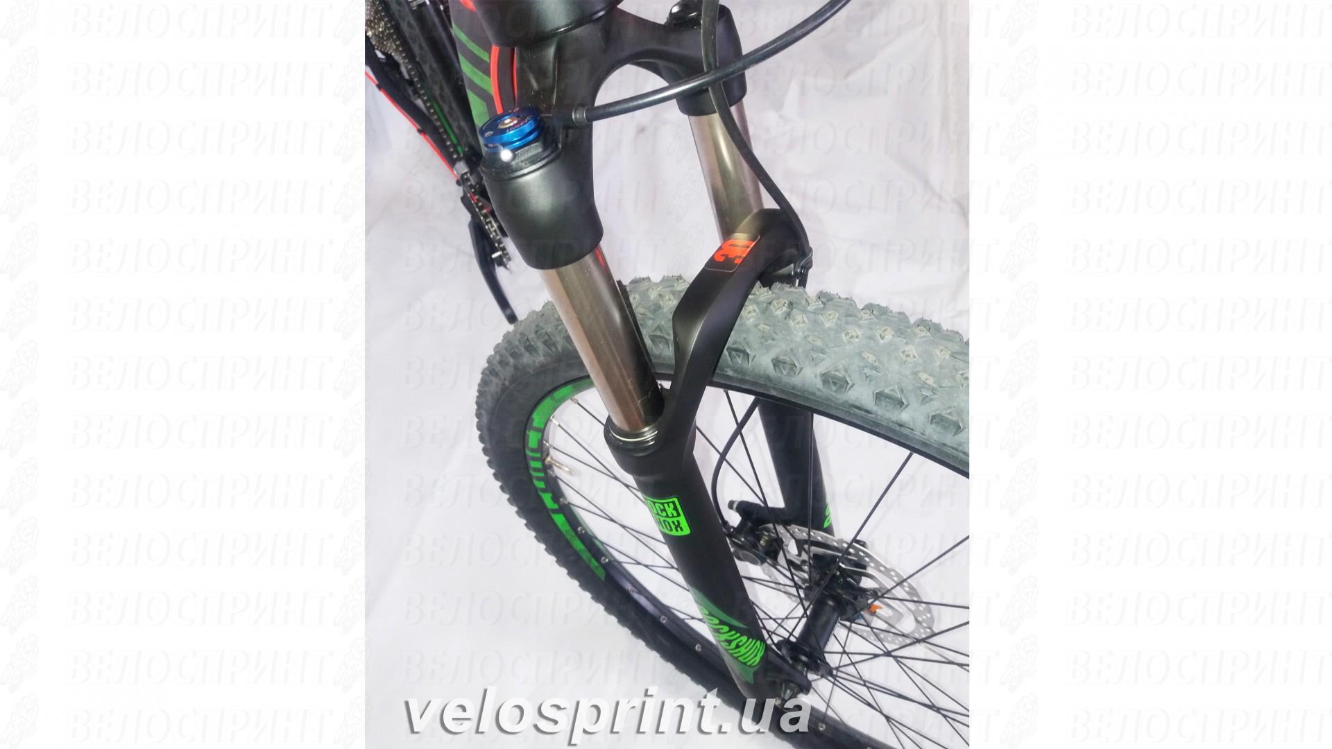 Велосипед GHOST Kato 7 AL 29 nightblack/riotgreen/neonred вилка год 2017