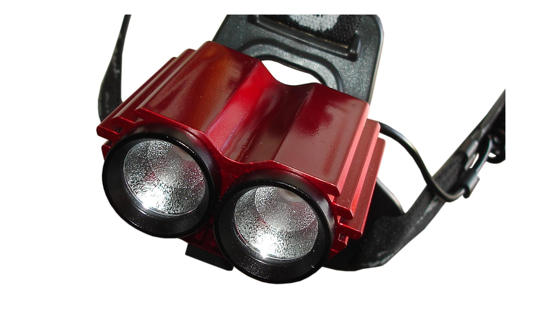 Фонарь Goread T10 2 X CREE R2, red вид спереди