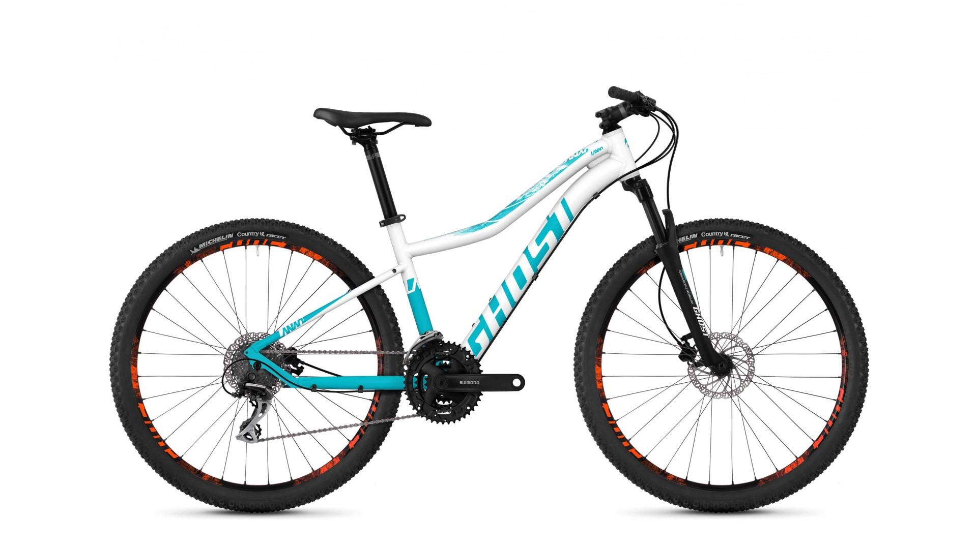 Велосипед GHOST Lanao 2.9 AL W star white / electric blue / neon orange год 2018