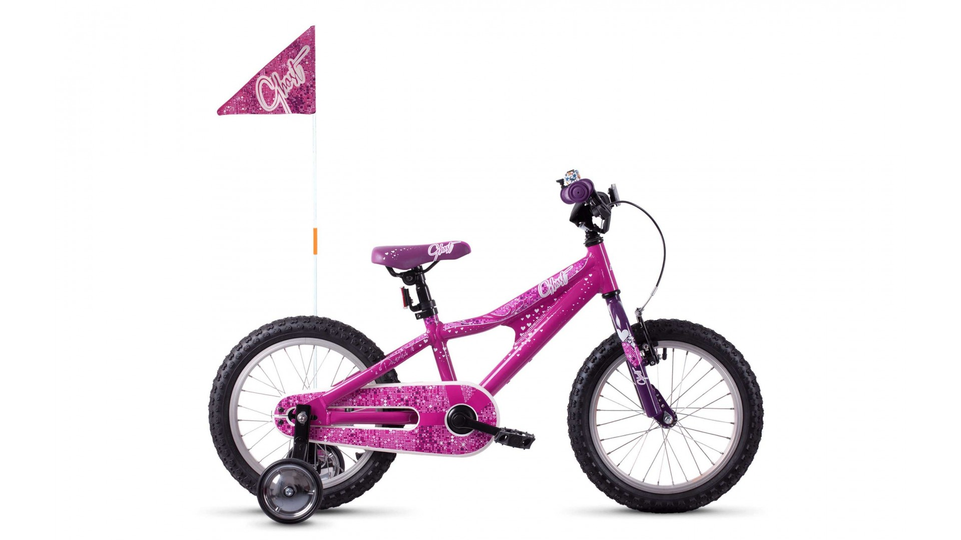 Велосипед GHOST POWERKID AL 16 K dark fuchsia pink / violet / star white год 2018