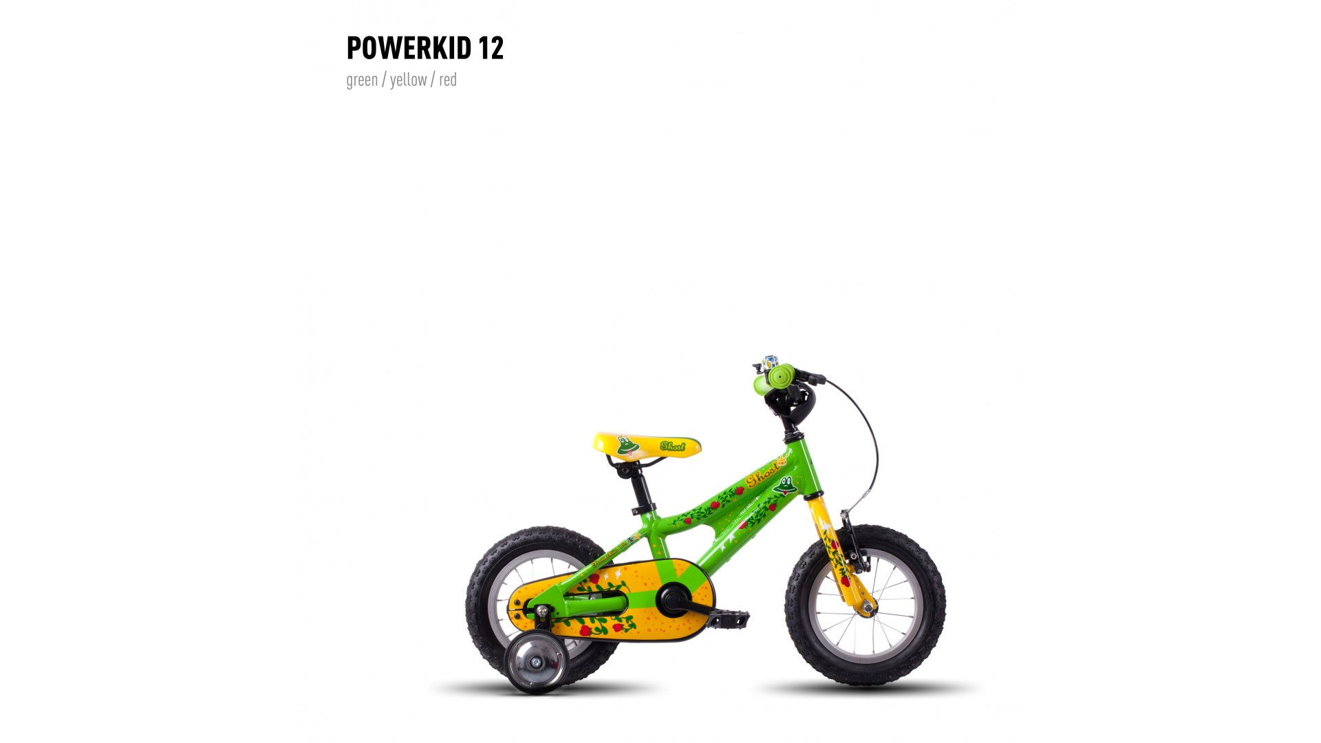 Велосипед GHOST Powerkiddy 12 green/yellow/red год 2016