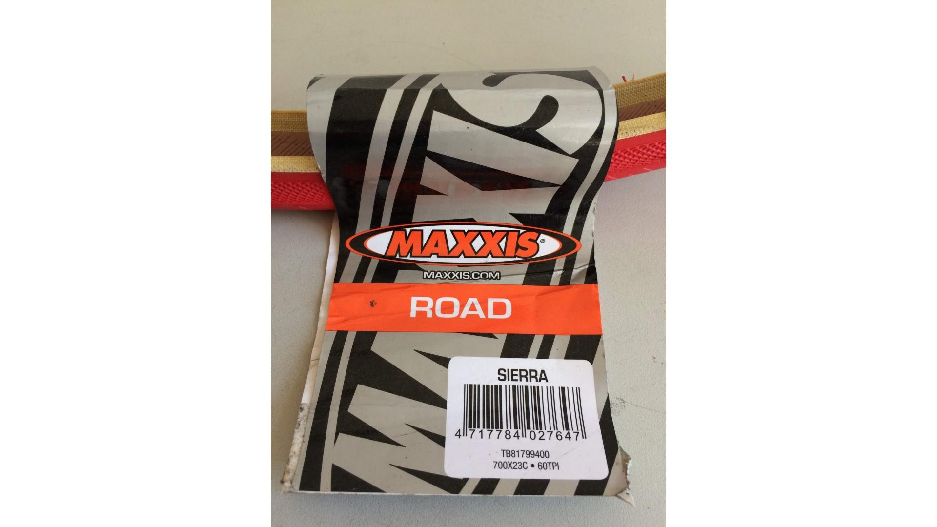 Покрышка Maxxis 700x23c, Sierra красная ф2