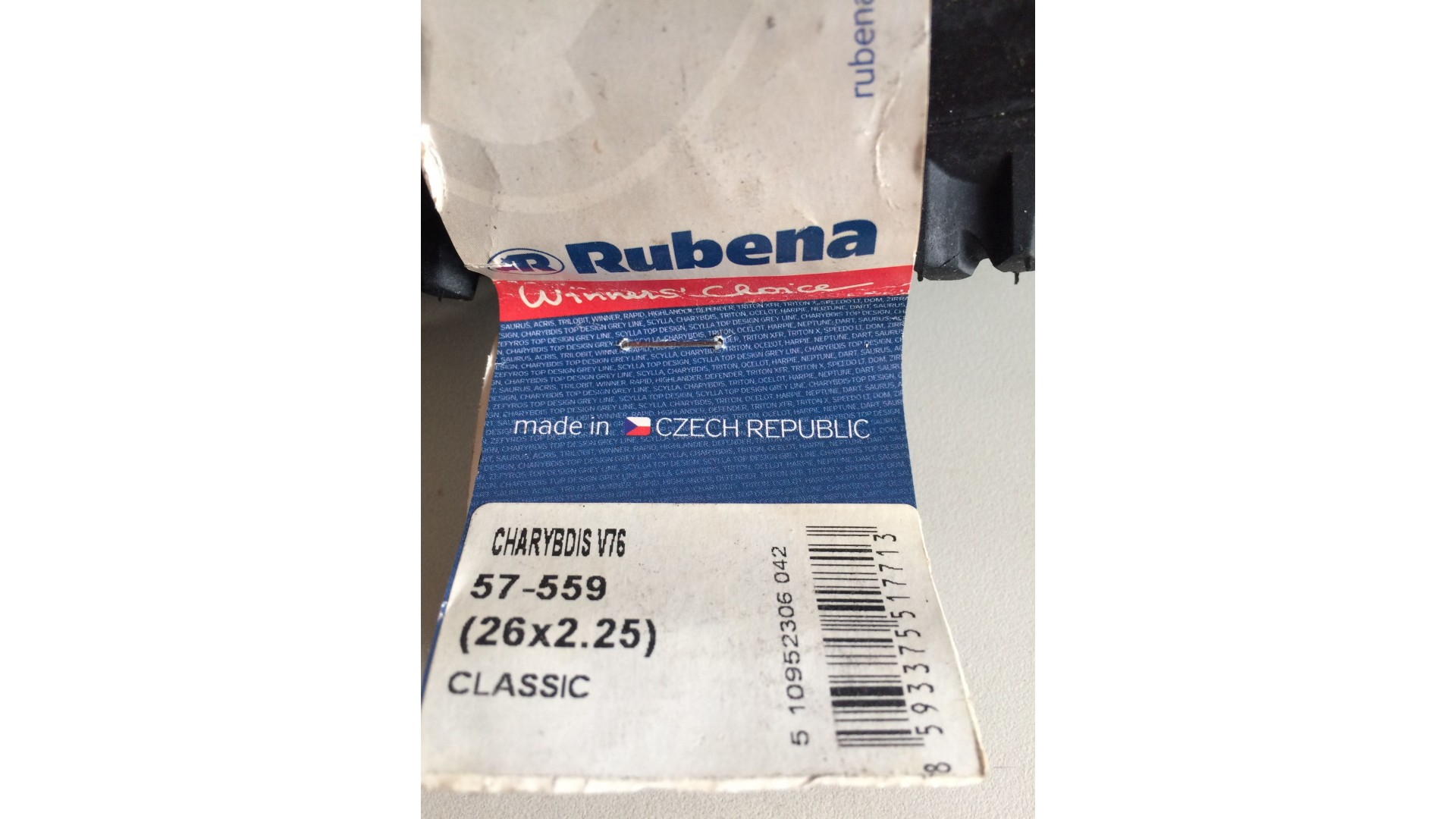 Покрышка RUBENA 26 x 2,25 (57x559) CHARYBDIS V76 ф2