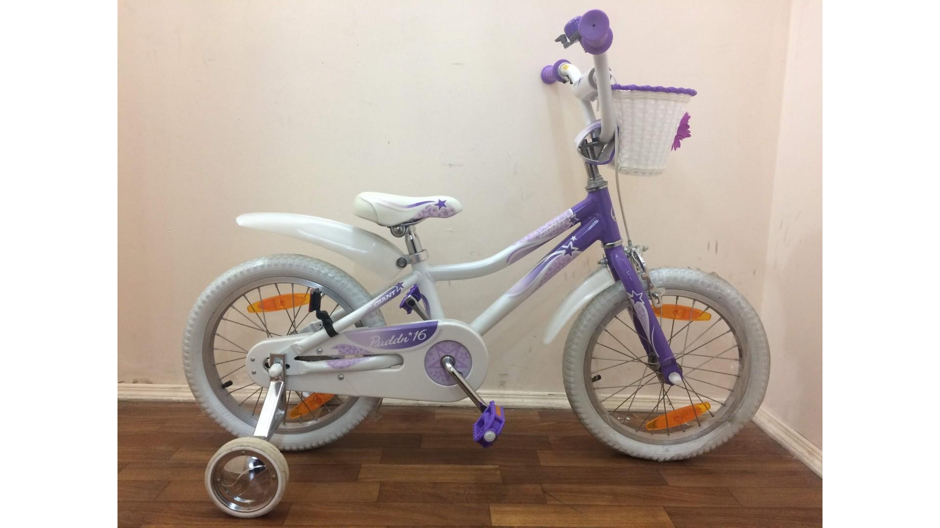 Велосипед Giant Puddn 16 бело-фиолетовый вид1