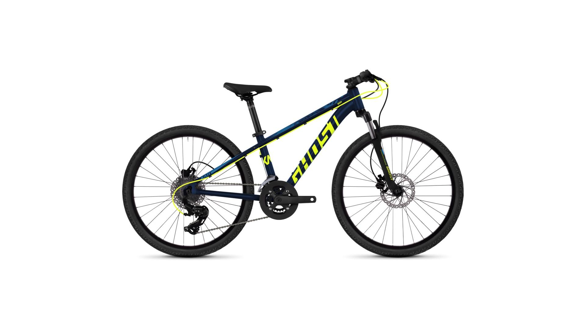 Велосипед GHOST Kato D4.4 AL U neon red / night black год 2018