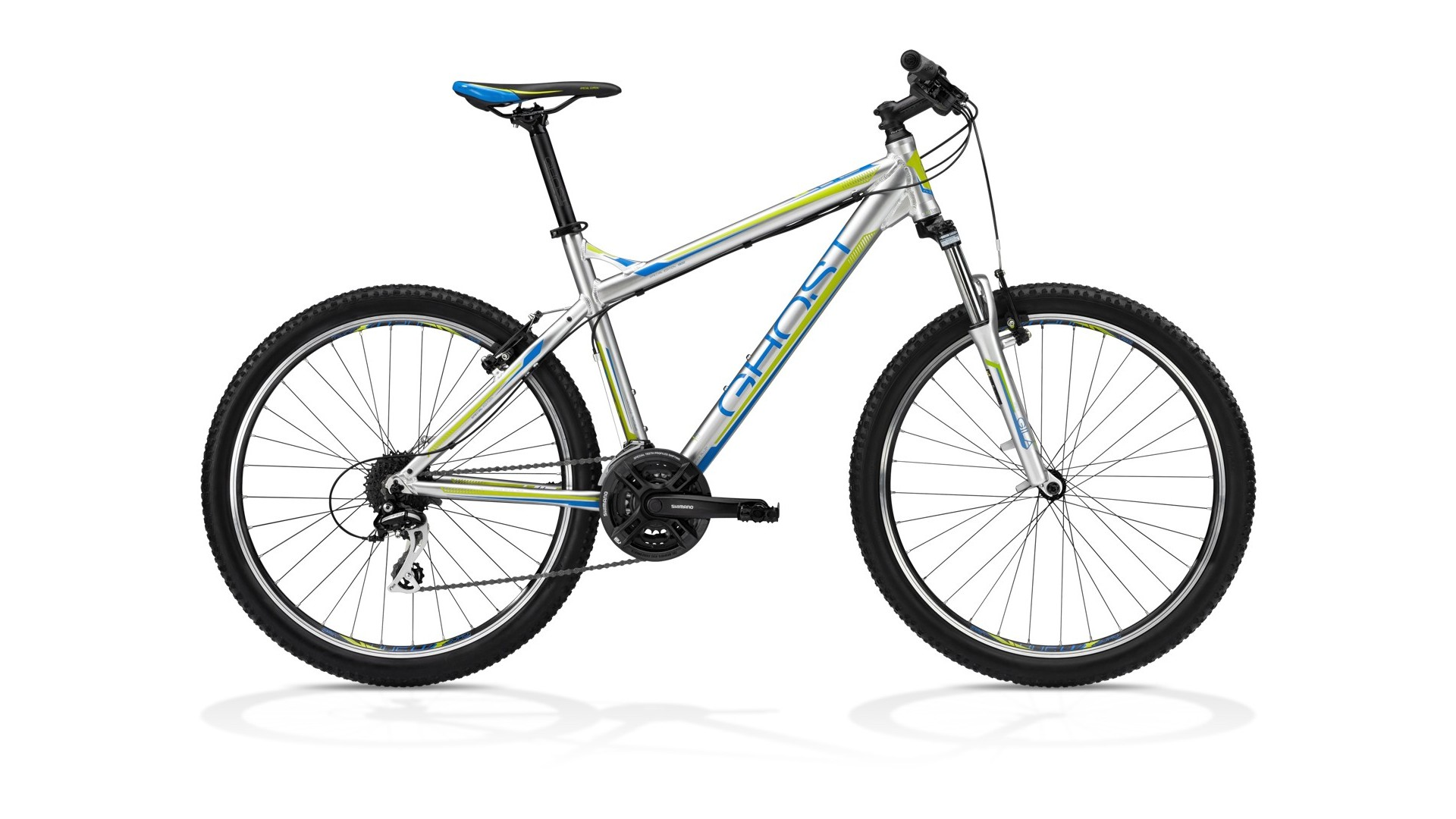Велосипед GHOST SE 1300 grey/blue/lime green год 2013