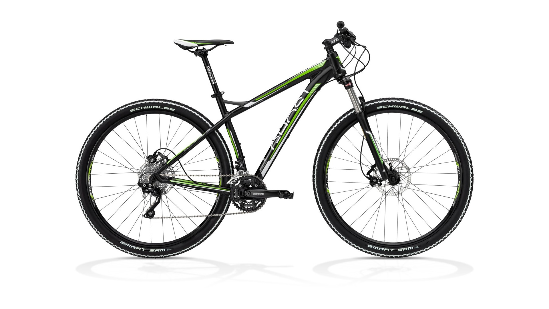 Велосипед GHOST SE 2950 black/white/green год 2013