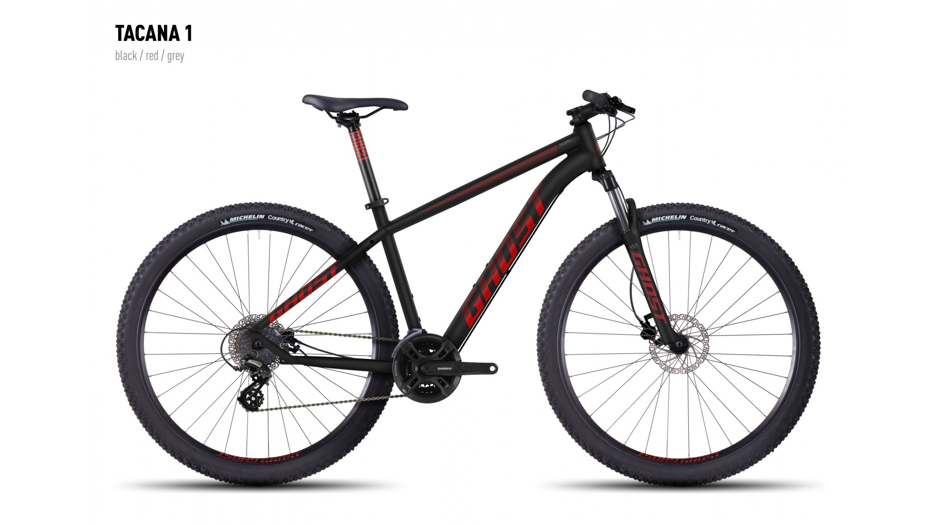 Велосипед GHOST Tacana 1 black/red/grey год 2016