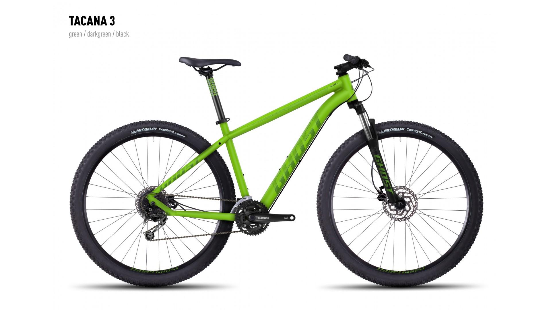 Велосипед GHOST Tacana 3 green/darkgreen/black год 2016