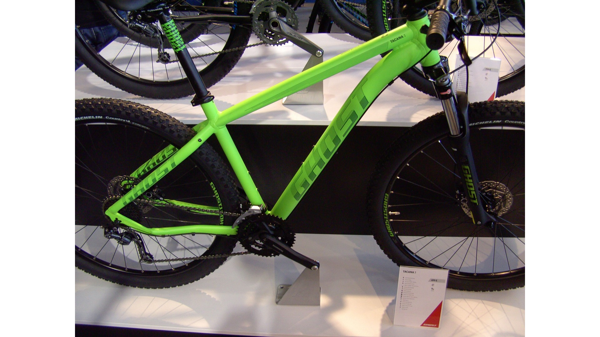 Велосипед GHOST Tacana 3 green/darkgreen/black евробайк год 2016