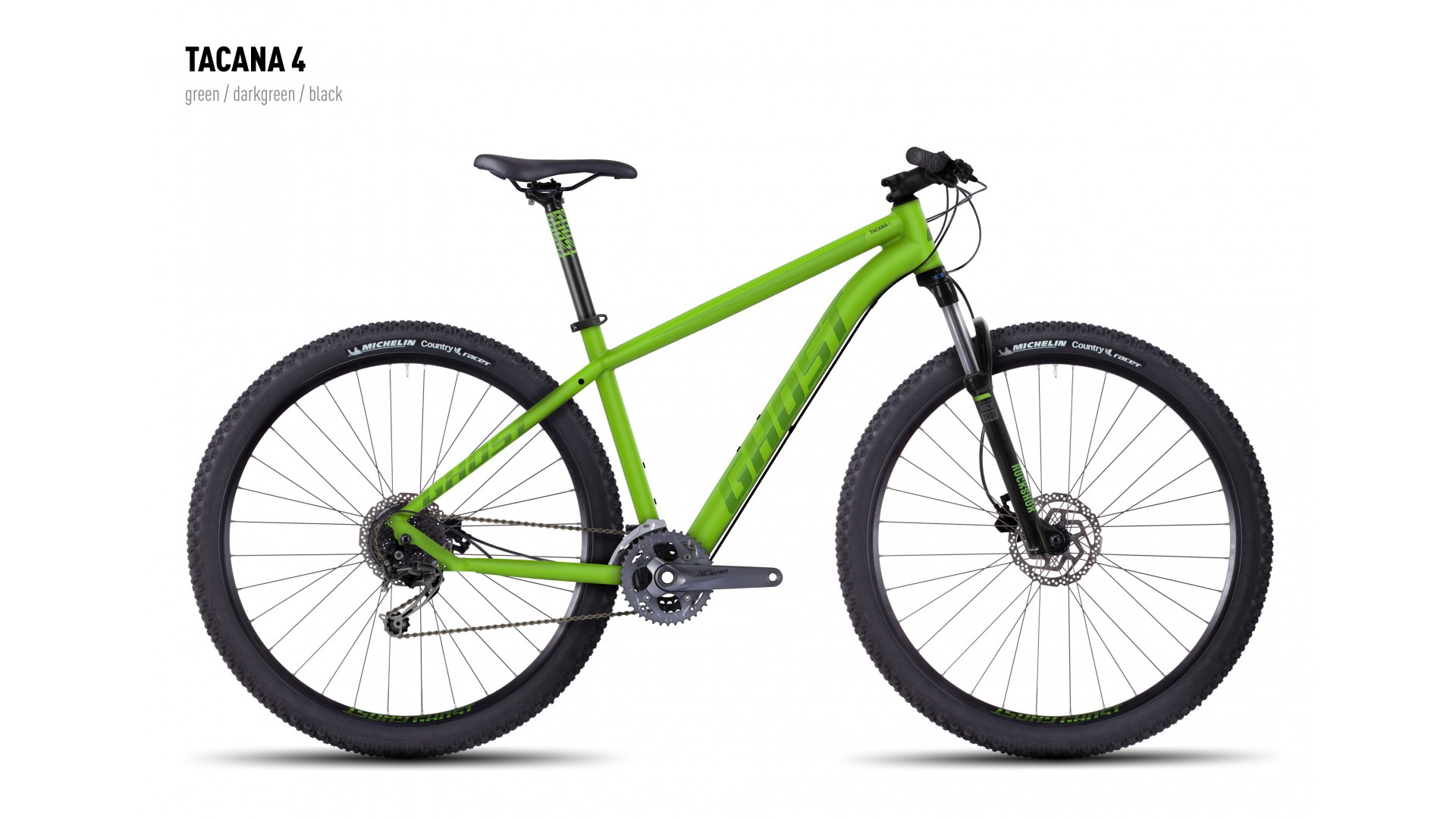 Велосипед GHOST Tacana 4 green/darkgreen/black год 2016