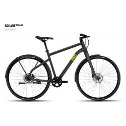 Велосипед GHOST Square Urban 4 grey/limegreen год 2016