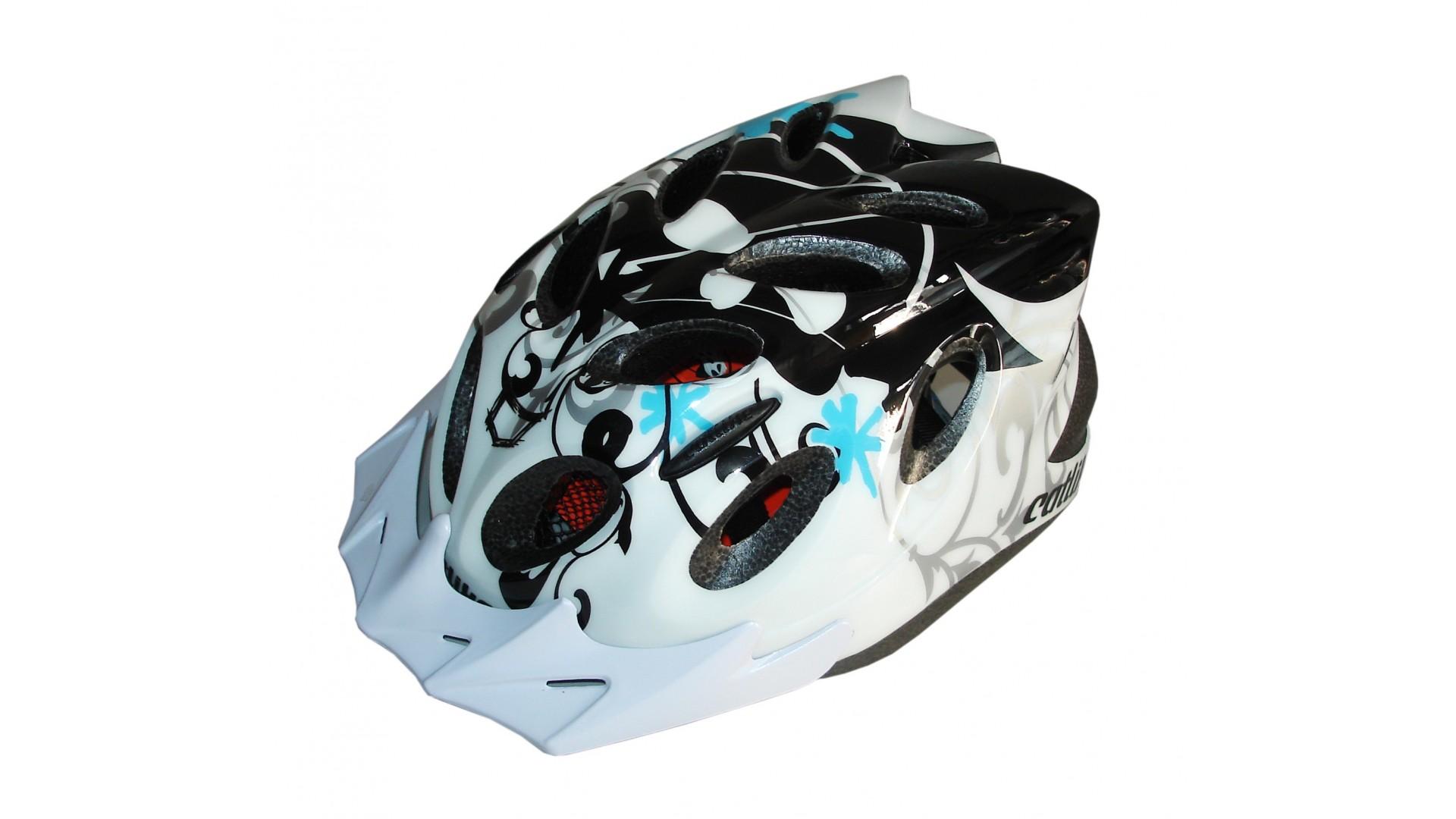 Велошлем Catlike Diablo Bco Azul Negro