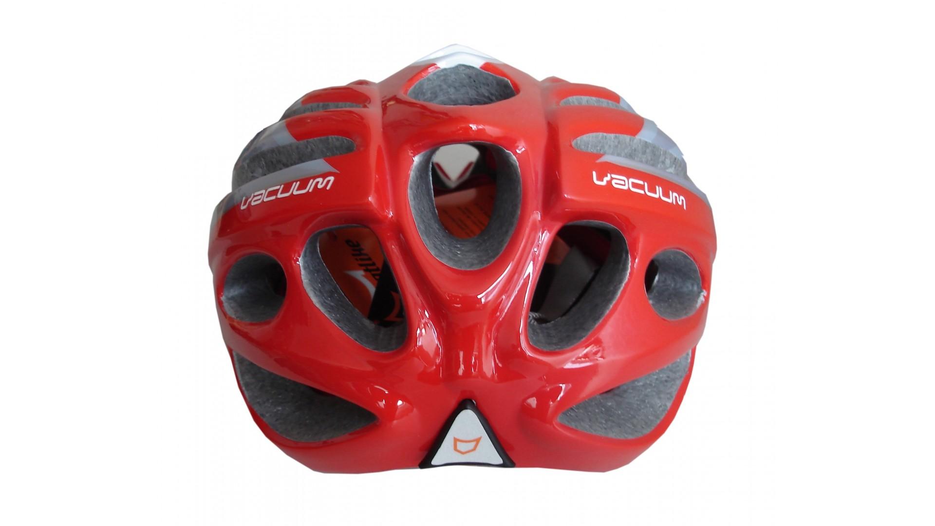 Велошлем Catlike Vacuum Blanco Plata Rojo
