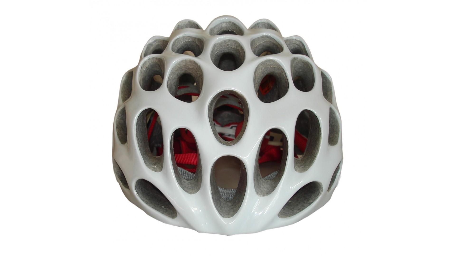 Велошлем Catlike Whisper Plus Deluxe Blanco-Rojo