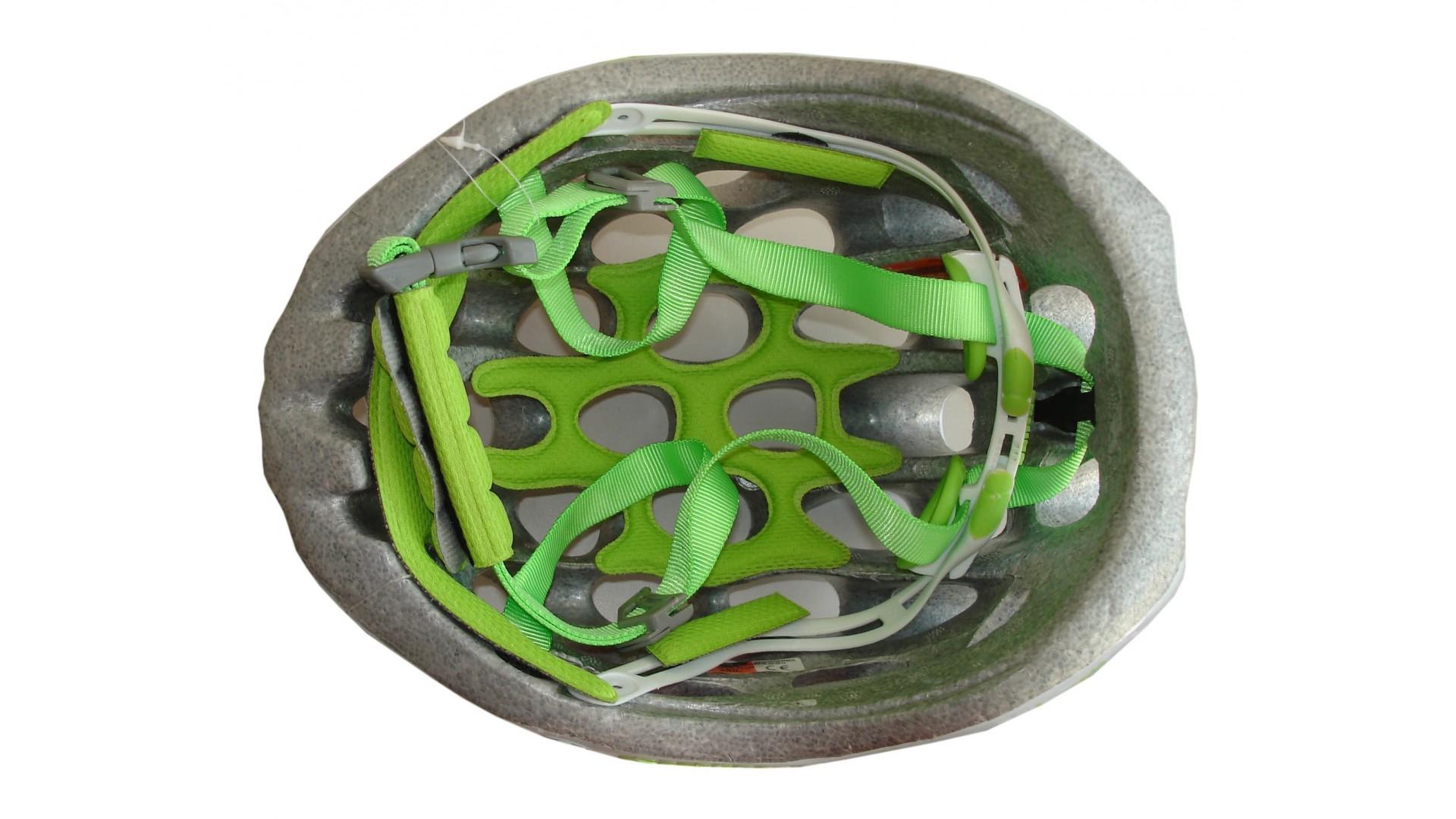 Велошлем Catlike Whisper Plus Deluxe Blanco-Verde