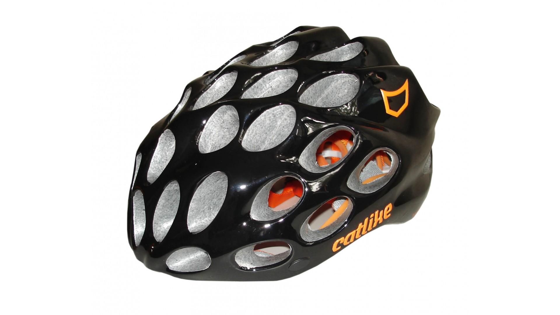 Велошлем Catlike Whisper Plus Deluxe Negro-Naranja