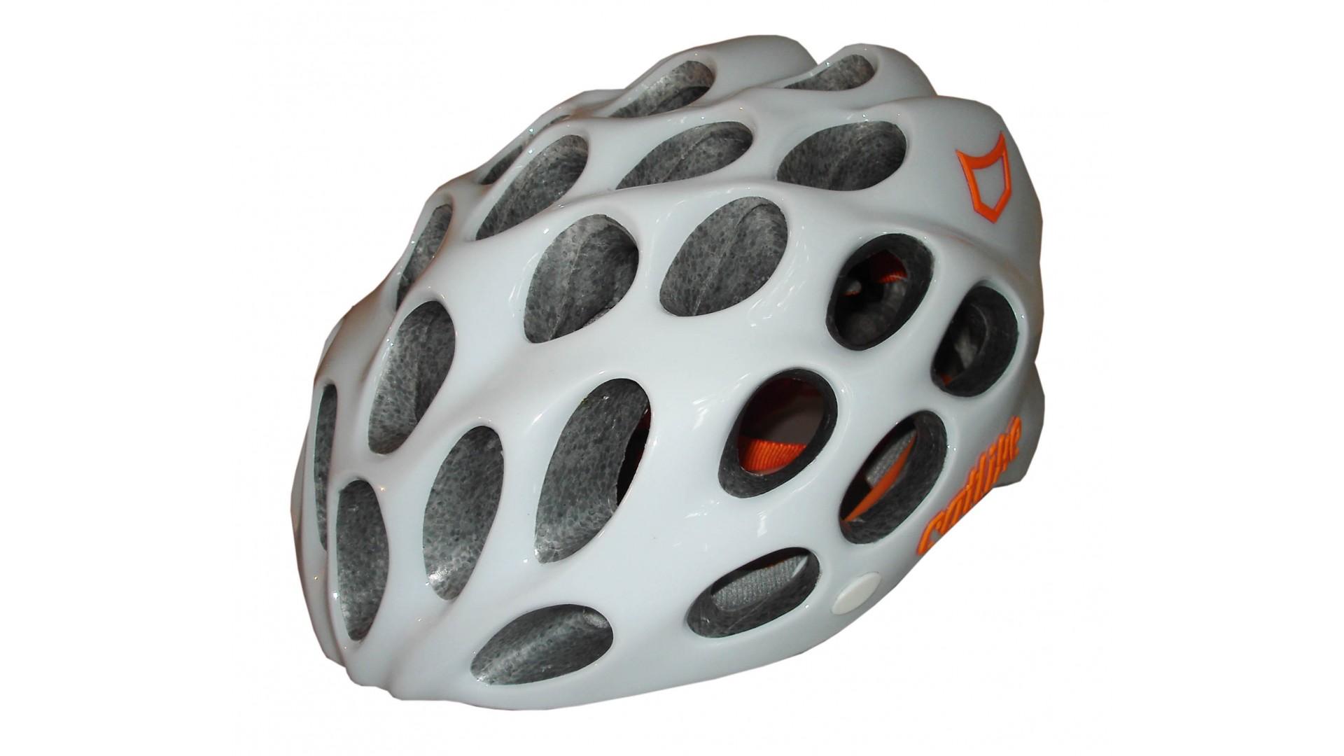 Велошлем Catlike Whisper Plus Deluxe Blanco-Naranja