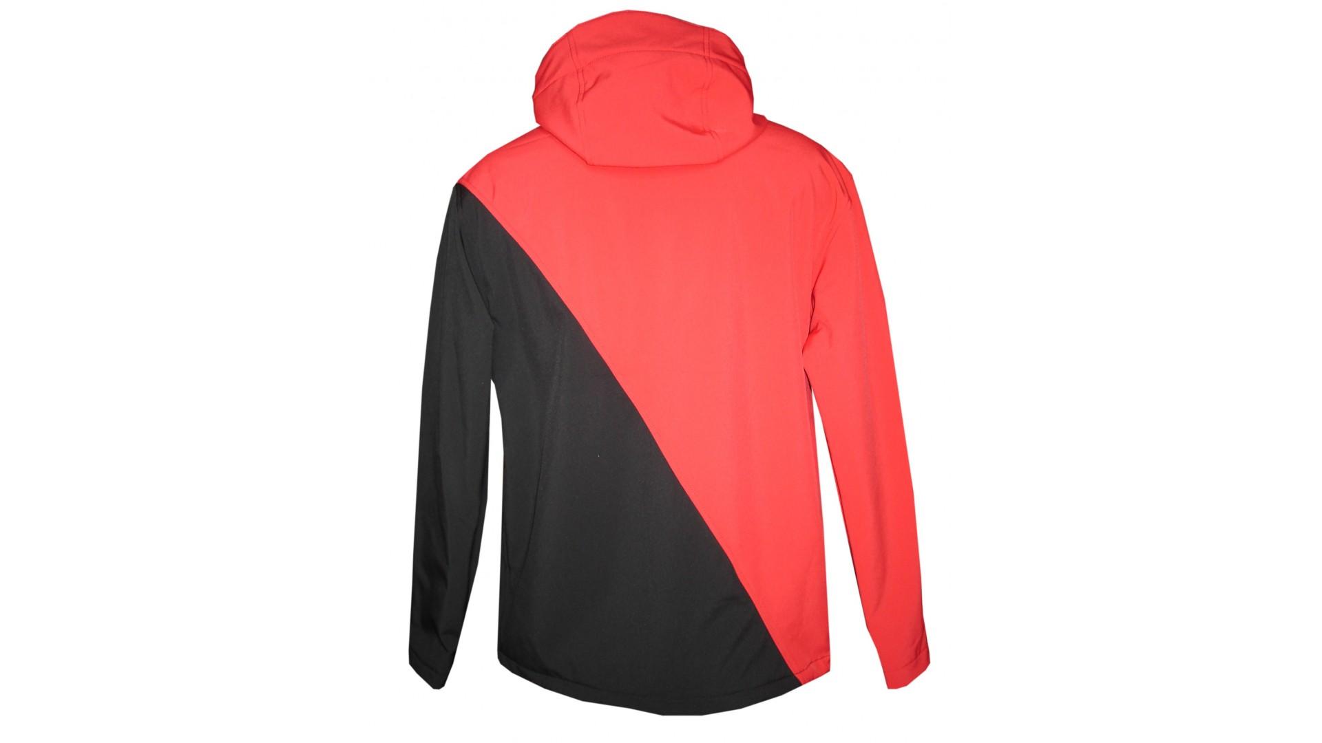 елокуртка Ghost с капюшоном мужская red/black/blue год 2015 вид сзади