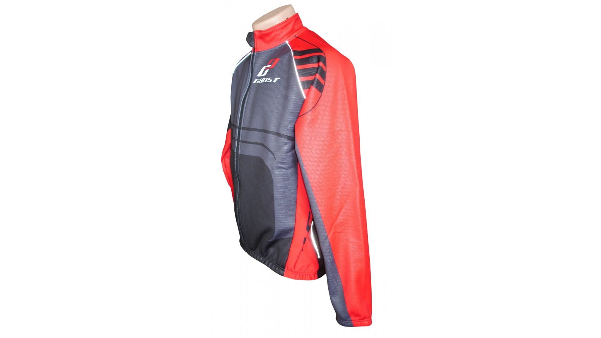 Велокуртка Ghost Winter jacket black/red демисезонная год 2014 вид сбоку