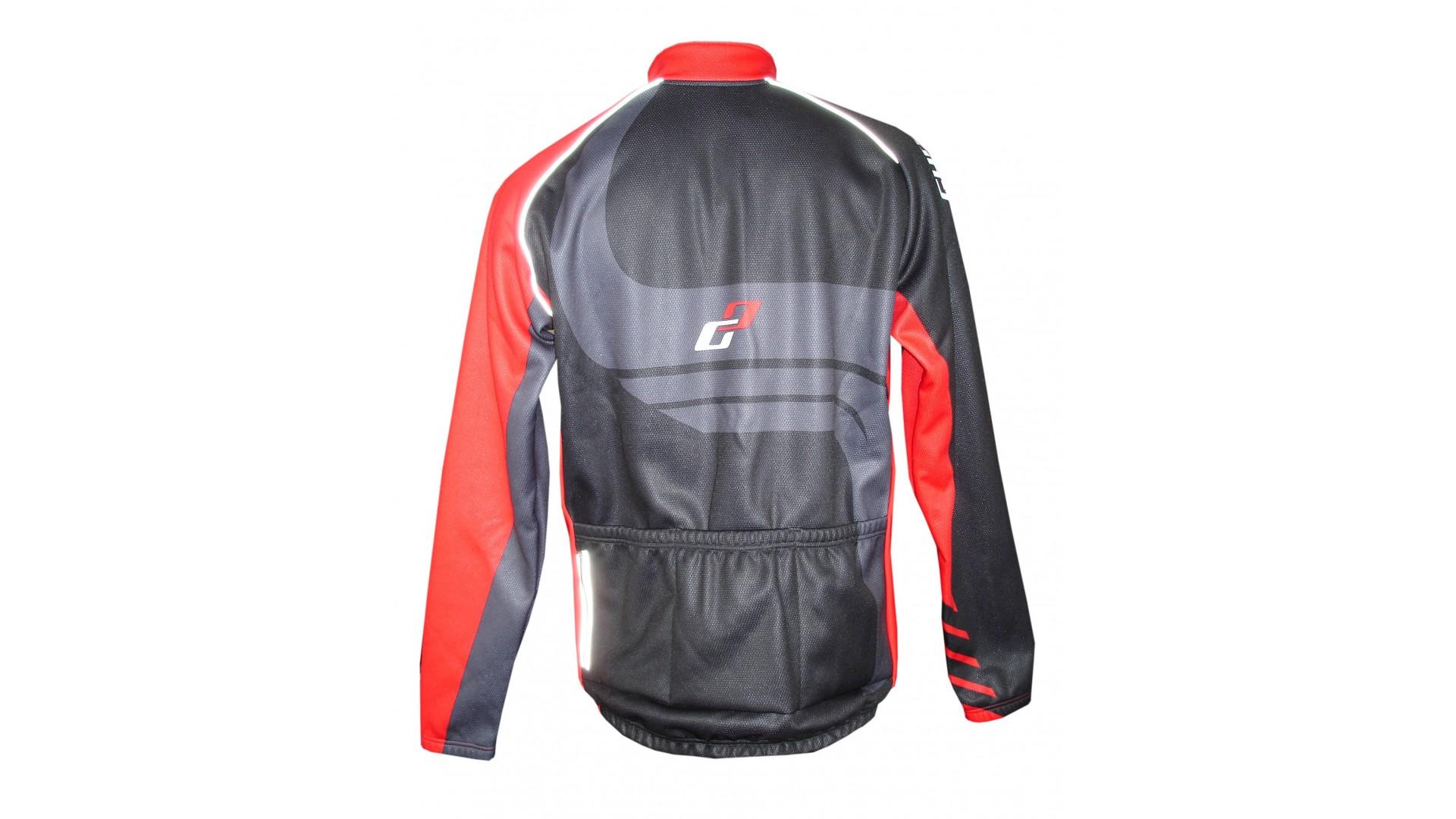 Велокуртка Ghost Winter jacket black/red демисезонная год 2014 вид сзади