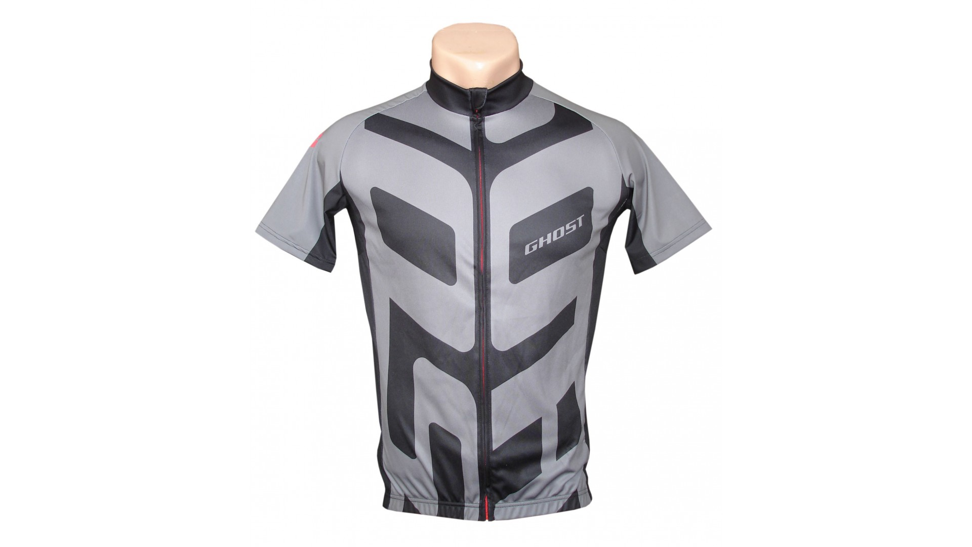 Веломайка Ghost Performance Jersey Short с коротким рукавом grey/black год 2016