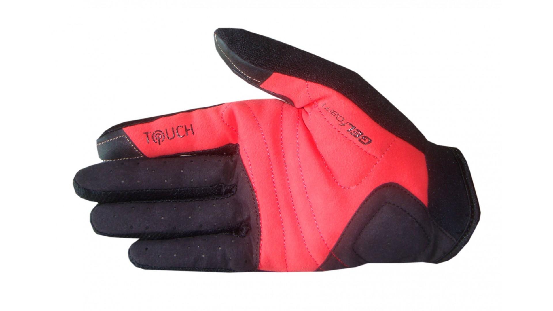 Велоперчатки Ghost c длинными пальцами black/red/white год 2015